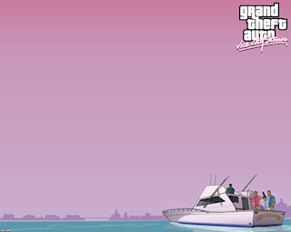 Vice City Stories PC Wallpaper  - Boat