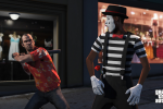Trevor ensures a mime doesn't talk