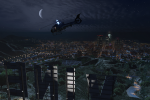 Flying by Vinewood at night