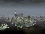 The Liberty City skyline.