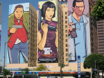 GTA: Chinatown Wars Mural in California