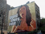 A GTA4 painted billboard in New York City.