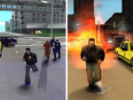 Comparison of early and final graphics