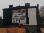 GTA V Cover Art Ad in NYC Being Painted 3