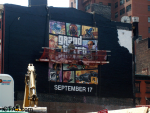 GTA V Cover Art Ad in NYC Being Painted 4