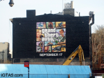 GTA V Cover Art Ad in NYC Being Painted 6