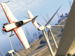 Aerial stunts around the wind farm