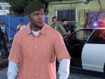 Franklin watches the cops detain some thugs