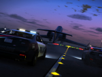 The cops chase a plane taking off