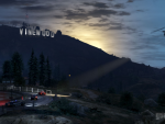 Police chase near Vinewood sign