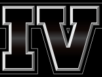Rockstar's 'IV' logo, in black.