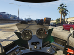 (First-person) Cruising on a motorcycle
