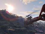 Helicopter over Vinewood Hills