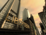 A large sign amongst sky scrapers reads 'Liberteen'.