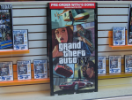 A GTA IV display in Blockbuster.