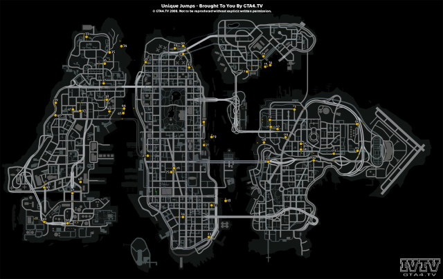 Unique Jump Locations Map