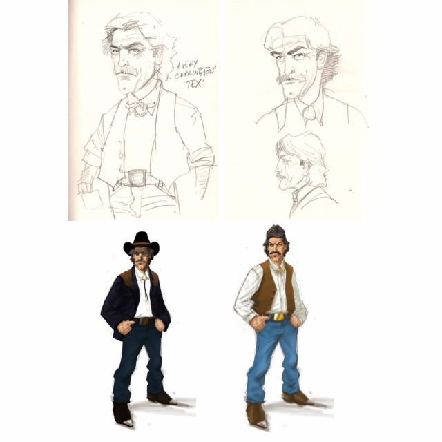 Character Sketches - Avery Carrington