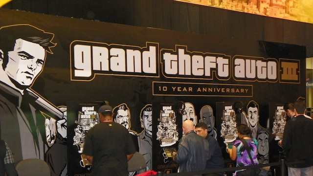 Rockstar Games booth at NY Comic Con
