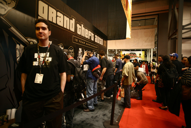 Rockstar Games booth at NY Comic Con 2