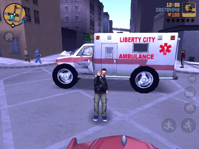 GTA III Mobile Modding: Big Wheel Ambulance