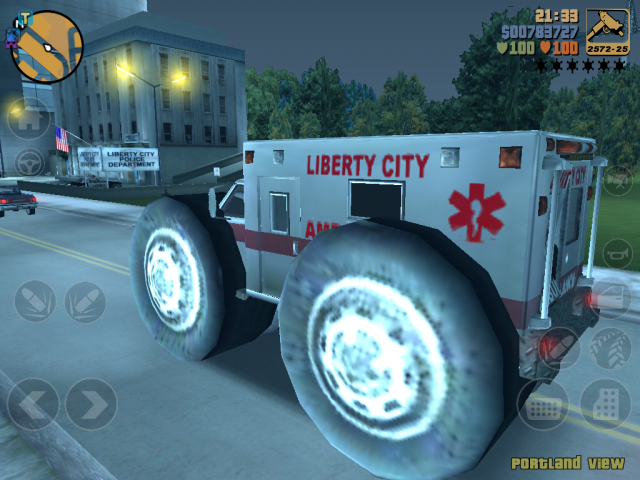 GTA III Mobile Modding: Big Wheel Ambulance 2