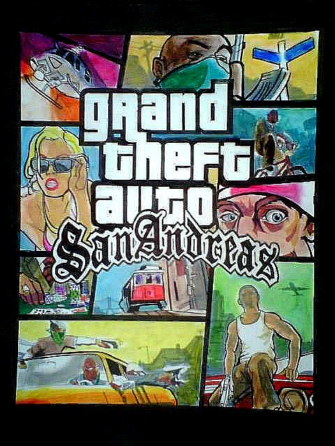 San Andreas Box Art by Yung_Pharoh