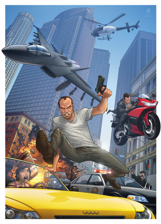 Patrick Brown's first GTA V artwork