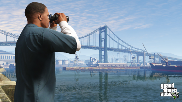 Franklin surveys the port
