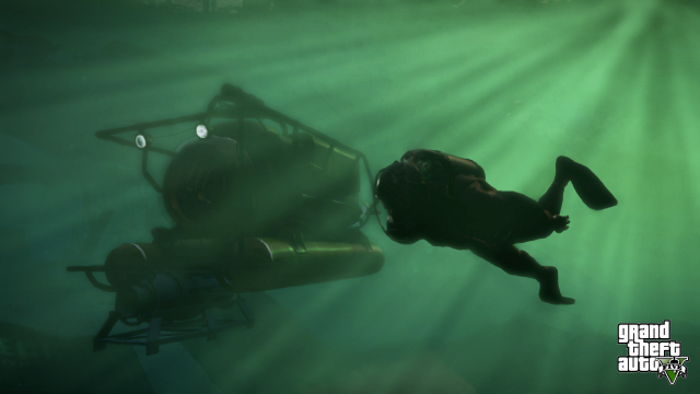 Exploring with a submarine and SCUBA gear
