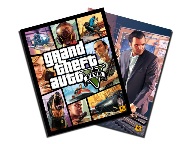 GTA 5 Poster from GameStop