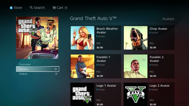 PSN GTA V Avatars