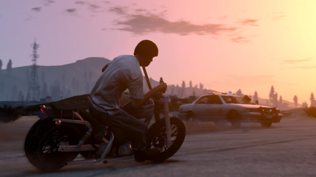 Trevor on a motorcycle