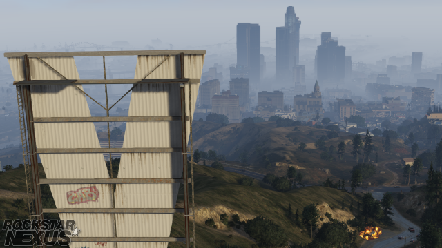 The city from the Vinewood sign