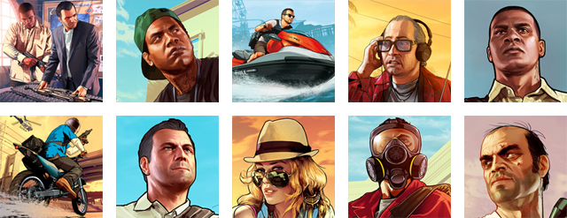 PSN & XBL GTA V Avatars 2