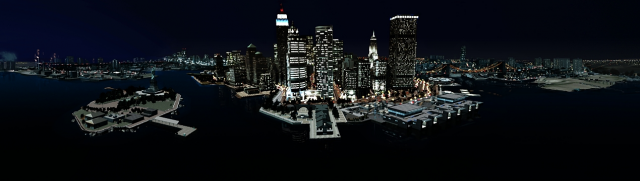 Liberty City - Night Skyline