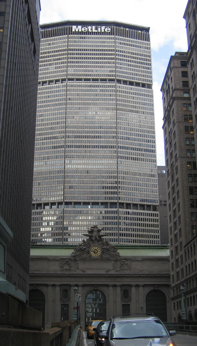 The MetLife Building and Grand Central Terminal